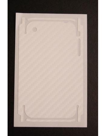 Карбоновая наклейка для Iphone 3G/3GS. Белый цвет