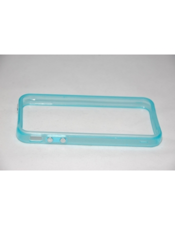 Светящийся флуоресцентный  чехол Iphone Bumper 4/4s. Голубой цвет