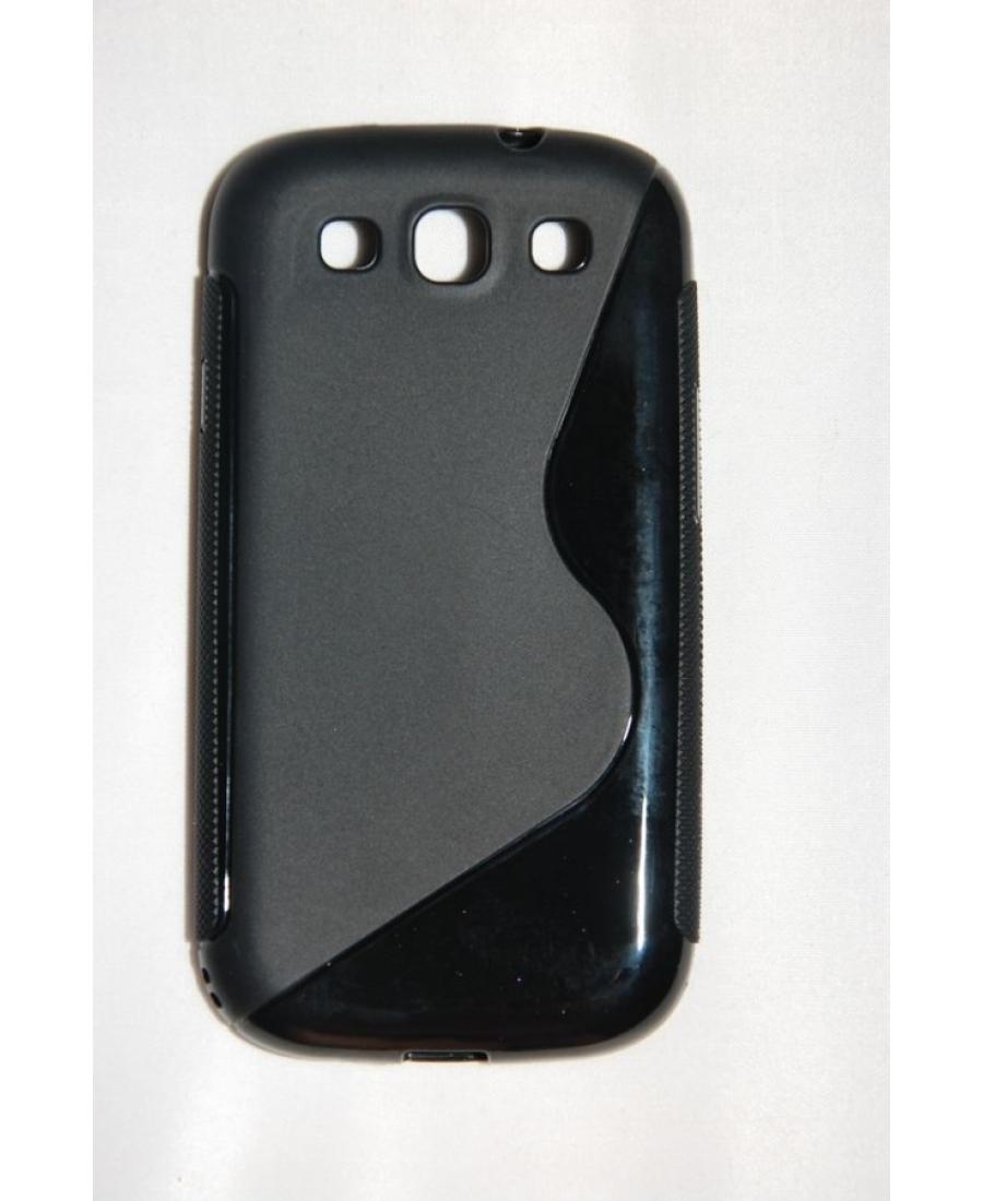 Гелевый чехол Samsung Galaxy S3 i9300. Черный цвет