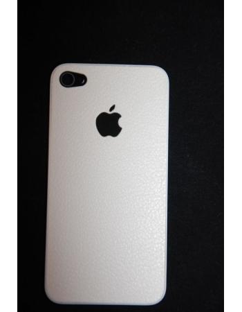 Крышка (панель) для Iphone 4. Кожа, белый цвет
