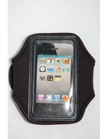Спортивный чехол на руку для Iphone 4/4s. Черный цвет