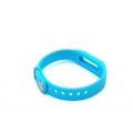 Браслет xiaomi mi band силиконовый ремешок голубой цвет