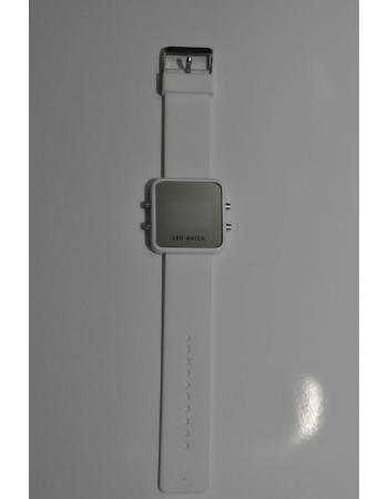 Светодиодные зеркальные часы, белый цвет