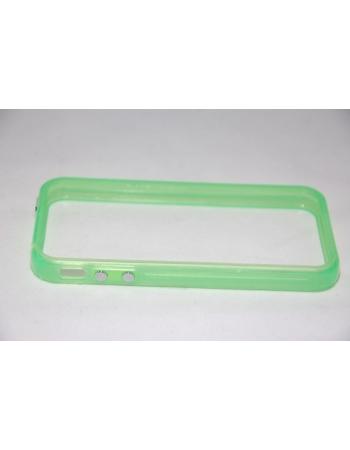 Светящийся флуоресцентный  чехол Iphone Bumper 4/4s. Зеленый цвет