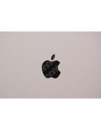 Стикер яблоко, карбон. Черный цвет