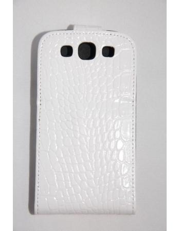 Чехол Samsung Galaxy S3. Croco. Белый цвет