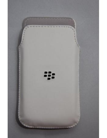 Кожаный чехол Blackberry Z10. OEM. Белый цвет