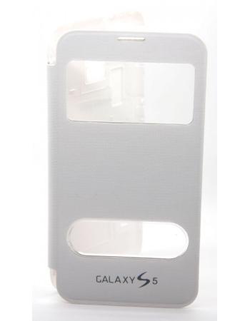 Чехол Samsung Galaxy S5 flip. Белый цвет