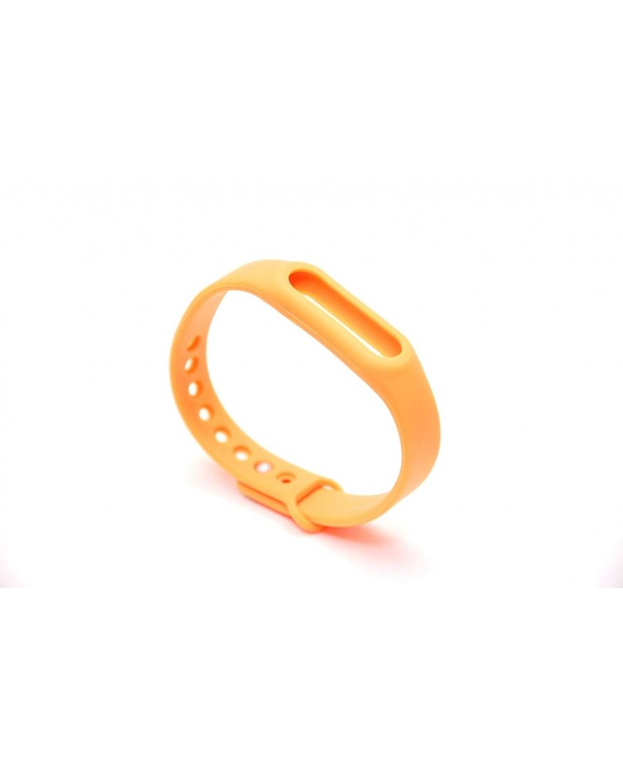 Браслет xiaomi mi band силиконовый ремешок оранжевый цвет