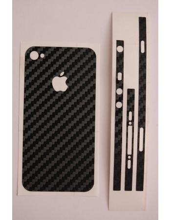 Карбоновая наклейка для Iphone 4. Черный цвет