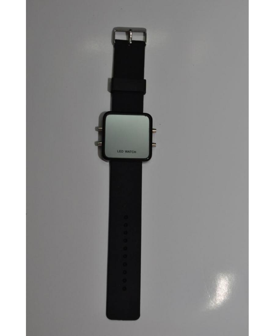 Светодиодные зеркальные часы, черный цвет