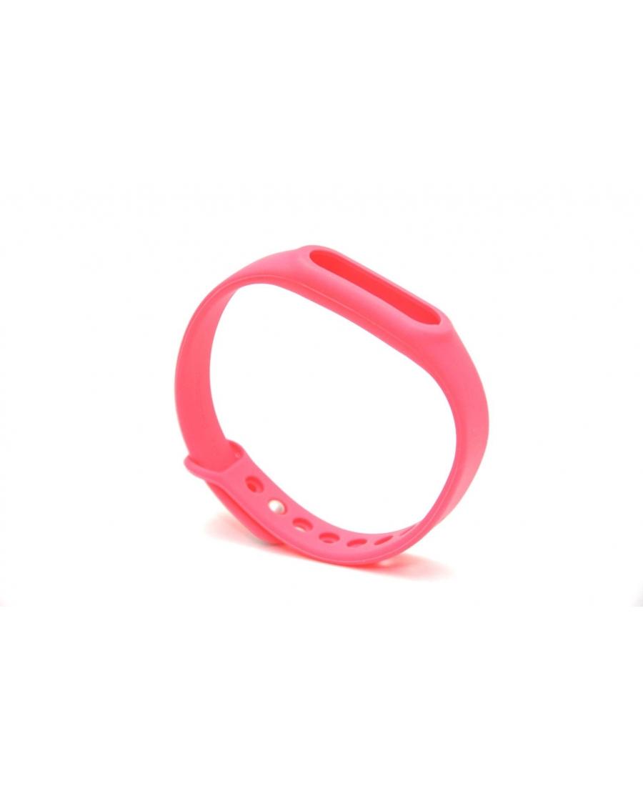 Браслет xiaomi mi band силиконовый ремешок розовый цвет