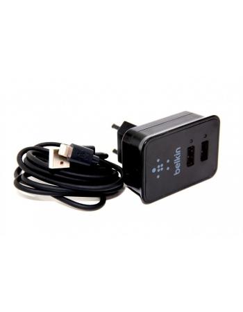 Комплект Belkin Ipad зарядное устройство EU + кабель lightning. Черный цвет