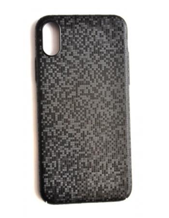 Тонкий пластиковый чехол Iphone X, мозайка. Черный цвет