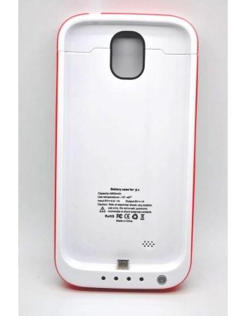 Чехол-аккумулятор Samsung Galaxy S4, 4200 Mah. Белый + красный цвет