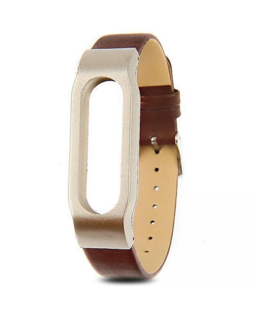 Кожаный браслет для Xiaomi Mi Band. Коричневый цвет