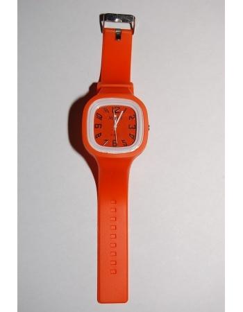 Силиконовые наручные часы. Оранжевый цвет