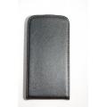 Кожаный чехол flip Samsung Galaxy S3. Натуральная кожа. Черный цвет