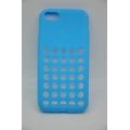 Силиконовый чехол Iphone 5c DOT. Голубой цвет