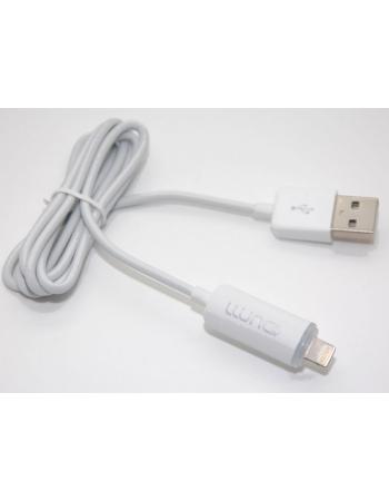 Дата кабель lightning Iphone 5/5s/5c/ Ipad LLUNC. Белый цвет