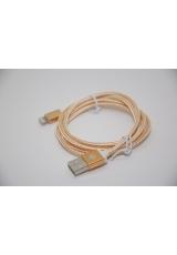 Кабель lightning KALUOS для apple iphone, ipad, ipod, 1 метр. Золотой цвет