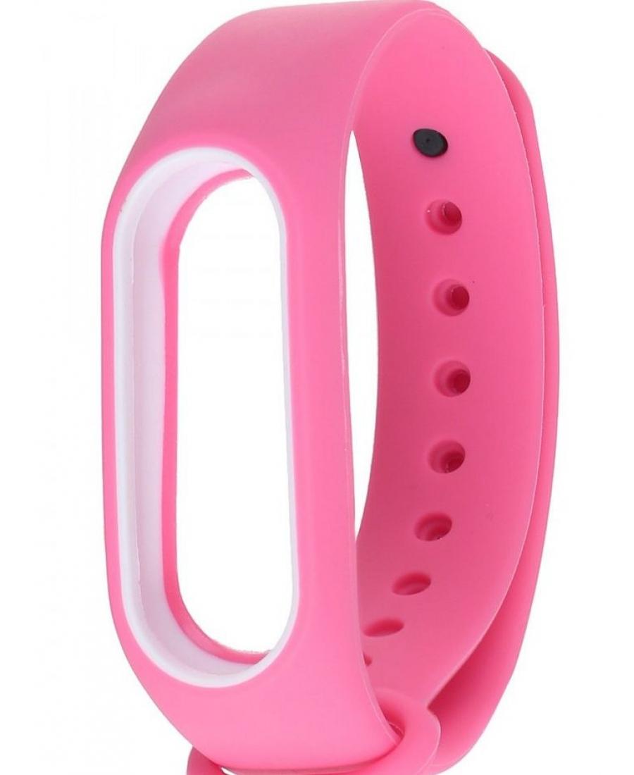 Ремешок для браслета Xiaomi Mi band 3. Розовый с белым