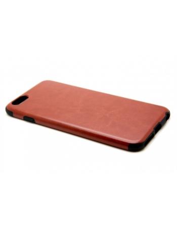 """Кожаный чехол для Iphone 6 PLUS (5.5""""). Коричневый цвет"""