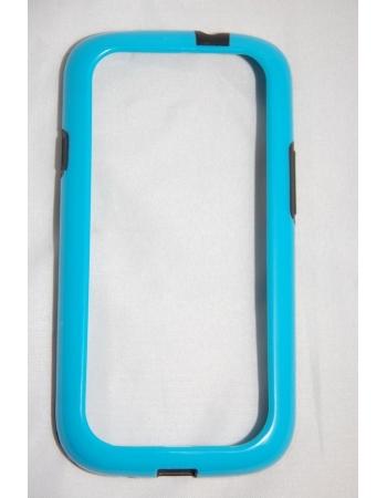 Чехол samsung Galaxy S3. Черный+голубой цвет