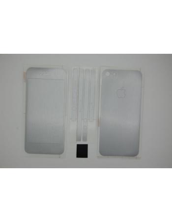 Наклейка 3M Iphone 5. Серебристый цвет. Полный комплект