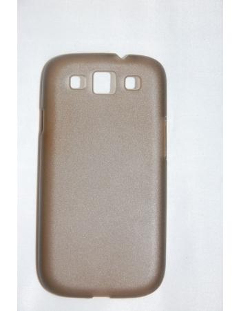 Ультратонкий чехол 0.6 мм Samsung Galaxy S3 SIII i9300. Серый цвет