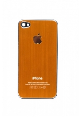 Панелька Iphone 4s металл. Оранжевый цвет