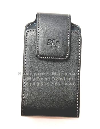 Чехол Blackberry 9530 с клипсой. Черный цвет