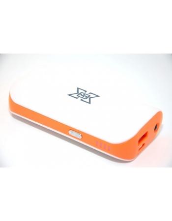 Мобильный аккумулятор Power bank 6000 Mah. Оранжевый цвет