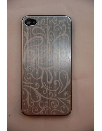 Крышка (панель) для Iphone 4. Металл, серебристый цвет