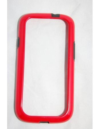 Чехол Samsung Galaxy S3. Черный+красныйцвет