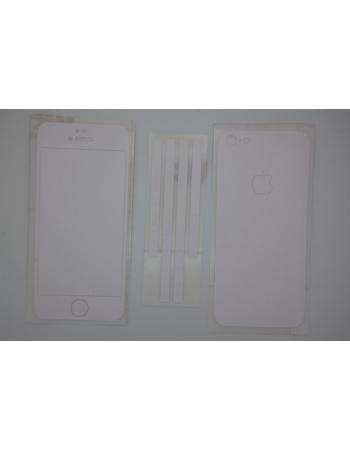 Наклейка 3M Iphone 5. Белый матовый цвет. Полный комплект