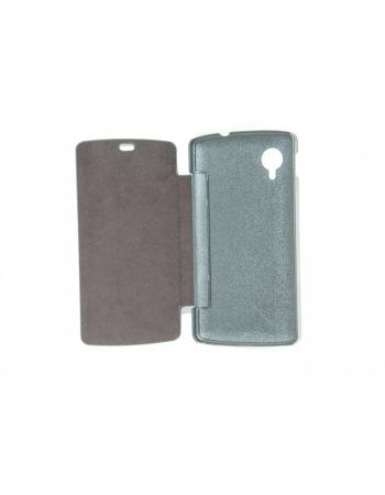 Кожаный чехол LG Nexus 5 Flip case. Черный цвет