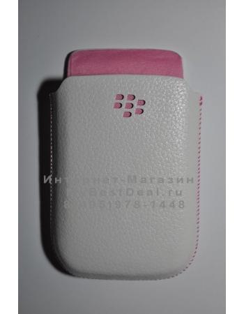Оригинальный чехол Blackberry 9800. Белый + розовый