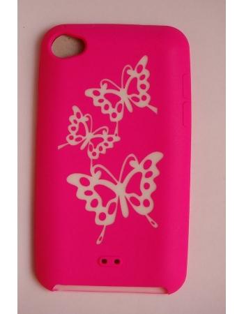 Силиконовый чехол Ipod Touch 4. Розовый цвет