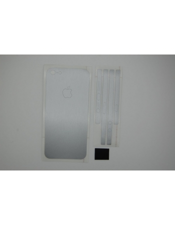Наклейка 3M Iphone 5. Серебристый цвет. Крышка+бампер