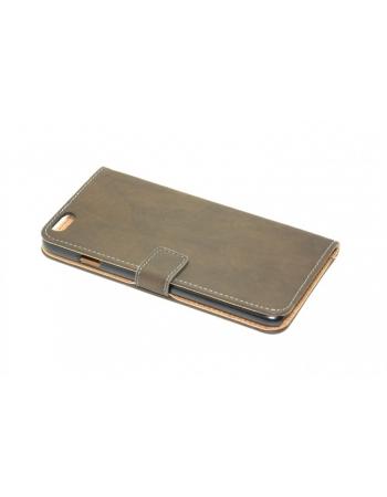 Чехол wallet flip для iphone 6 plus. Коричневый цвет