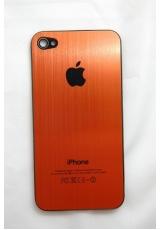 Панелька Iphone 4. Металл. Оранжевый цвет