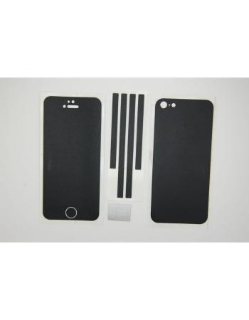 Наклейка 3М Iphone 5. Черный матовый цвет. Полный комплект