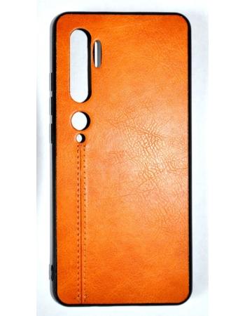 Чехол Xiaomi Mi note 10/10 pro кожа. Коричневый цвет