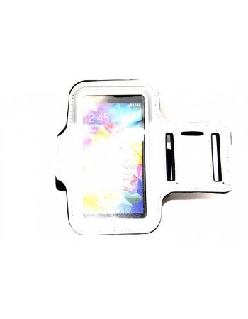Спортивный чехол на руку для Samsung Galaxy S5. Белый цвет