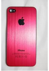Панелька Iphone 4. Металл. Красный цвет