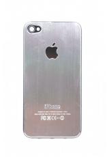Панелька Iphone 4s металл. Серебристый цвет