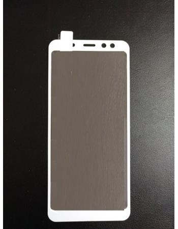 Защитное стекло Samsung Galaxy A8/A5(2018). Белый цвет