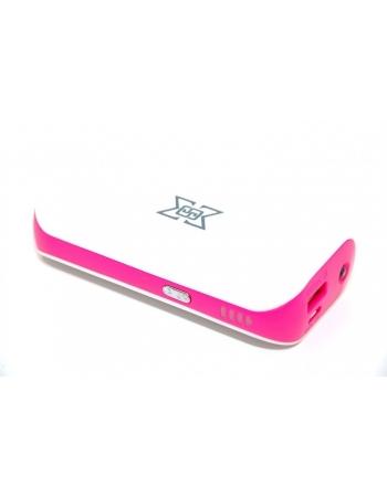 Мобильный аккумулятор Power bank 6000 Mah. Розовый цвет