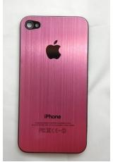 Панелька Iphone 4. Металл. Розовый цвет
